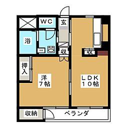 マンション稲元[3階]の間取り