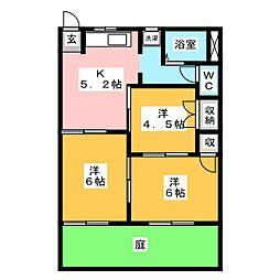 セゾンヴェール C[1階]の間取り