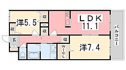ノールボアー3号館[105号室]の間取り