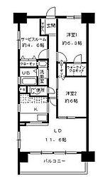 フォレストフローラ[9階]の間取り