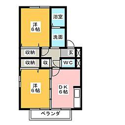 セトルセブンB[2階]の間取り