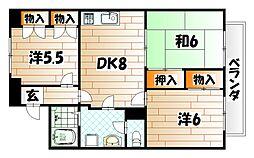 カサセレッソ槻田[4階]の間取り