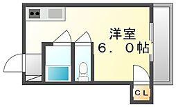 香川県高松市紫雲町の賃貸マンションの間取り