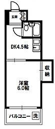 シティコート新大阪[7階]の間取り