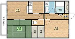ベルエポック3[2階]の間取り