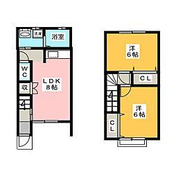 庭瀬ダイイチコーポ[1階]の間取り