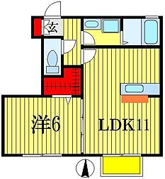 アークTOWA[1階]の間取り