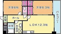 三島マンションI[2階]の間取り