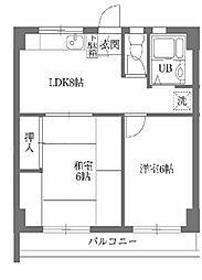 古澤マンション[0404号室]の間取り