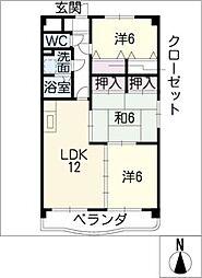 MIサンコート[4階]の間取り