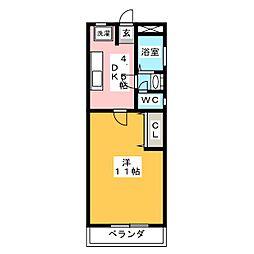ヴィレッジ本願寺[3階]の間取り