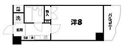 アクシルコート京都二条イースト[11階]の間取り