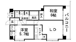 兵庫県神戸市中央区山本通4丁目の賃貸マンションの間取り