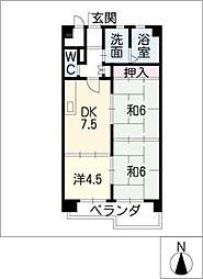 矢野マンション[3階]の間取り
