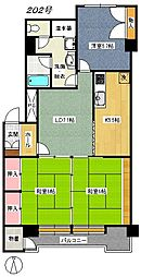 ライオンズマンション東照宮[202号室]の間取り