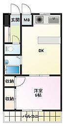 D-スクウェア加古川[2階]の間取り