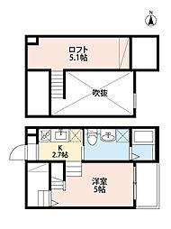 愛知県名古屋市熱田区南一番町の賃貸アパートの間取り