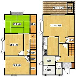 [タウンハウス] 広島県広島市南区翠4丁目 の賃貸【/】の間取り