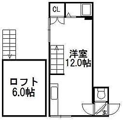 ルーブル東札幌[206号室]の間取り