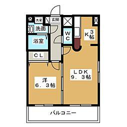 愛知県名古屋市西区稲生町4丁目の賃貸マンションの間取り