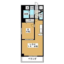 インベスト京都堀川[3階]の間取り
