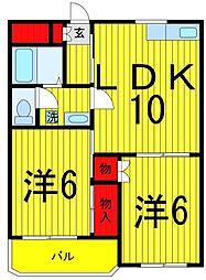 コーポ柳川[302号室]の間取り