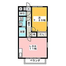 僚蘭舎[2階]の間取り