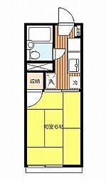 ドミール幡ヶ谷 幡ヶ谷3丁目 閑静な住宅街 嬉しい5万円台[2階]の間取り