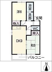 サニーコート B棟[1階]の間取り