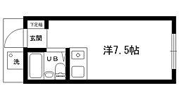 上ヶ原ハイツ[202号室]の間取り
