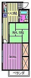 マンション吉川[305号室]の間取り