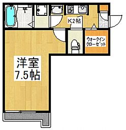 JR武蔵野線 東所沢駅 徒歩10分の賃貸アパート 3階1Kの間取り