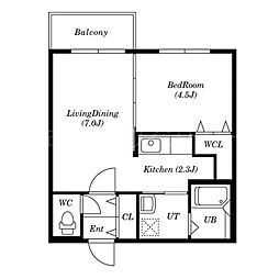 PrinceHomesS517[4階]の間取り