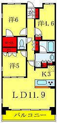 ブランズ文京護国寺 5階3LDKの間取り