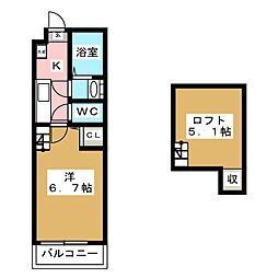 ロフティ大和[1階]の間取り