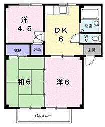 アーバンハイツ A・B棟[2階]の間取り