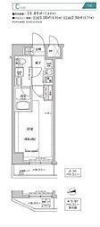 都営新宿線 住吉駅 徒歩10分の賃貸マンション 6階1Kの間取り