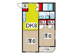 沖田ハイツ[105号室]の間取り