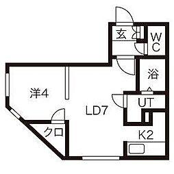 アミカル栄通[3階]の間取り