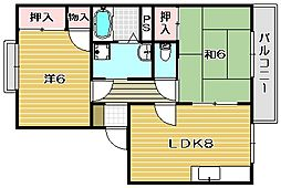 カサグランデ弐番館[1階]の間取り