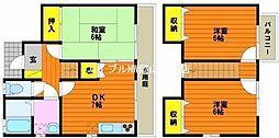 [テラスハウス] 岡山県岡山市北区中仙道2丁目 の賃貸【/】の間取り
