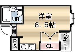 ナカダハウス[3階]の間取り