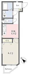ハイホーム 1階1DKの間取り