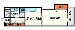 大阪府守口市竜田通2丁目の賃貸マンションの間取り