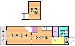 レオパレス富士見IIB棟[203号室]の間取り