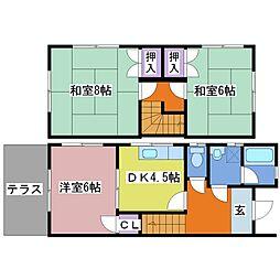 [テラスハウス] 兵庫県明石市小久保3丁目 の賃貸【/】の間取り