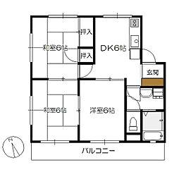 サコマンション[202号室]の間取り