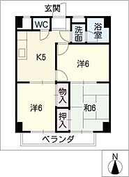 双栄ビル[3階]の間取り