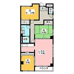 SFCビル野田[5階]の間取り