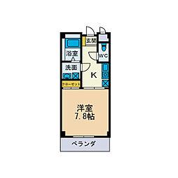 ロイヤルハイツI[3階]の間取り